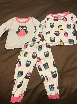 Mini Boden Toddler Girl Pajama 3y 2T Owls Cotton