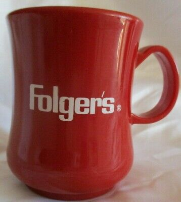 Folgers Coffee Cup, United States Olympic Committee, Red with White Lettering