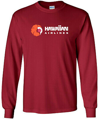 Hawaiian Airlines Vintage Logo US Airline Long-Sleeve T-Shirt
