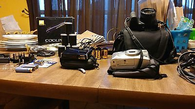 Assorted Camera Lot: Cameras, Accessories, Cases, And More!