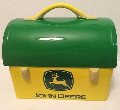 John Deere Gibson Ceramic Lunch box Cookie Jar, 2005