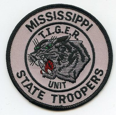 MISSISSIPPI MS STATE TROOPER Highway Patrol TIGER UNIT POLICE PATCH