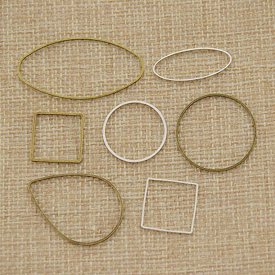 10 Pcs DIY Closed Metal Jump Ring Jewelry Making Findings Repair Connectors New