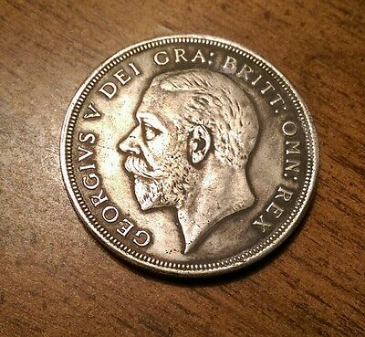 1928 WREATH CROWN BRITISH SILVER COIN FROM GEORGE V EF circulated