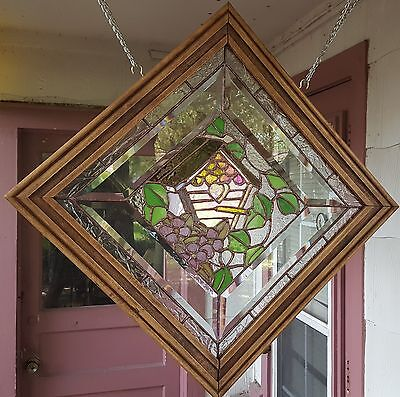 Tiffany Style Stained Glass Window Art Panel Sun Catcher Bird House Flower