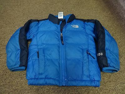 The North Face Jacket Down 550 Sz 3T Baby Kids Hiking Sport Blue Black