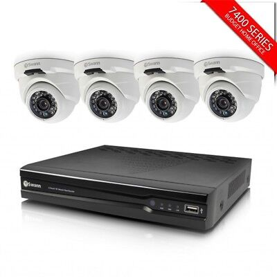 Swann 8 Channel 4MP CCTV Security NVR & 4x NHD819 Dome Cameras