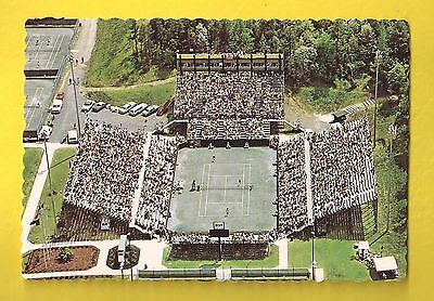Julian J. Clark Tennis Stadium Charlotte NC North Carolina Vintage Postcard