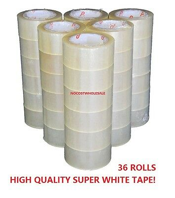 """36 Rolls 1.9""""x110 Yards(330' ft) Box Carton Sealing Packing Package Tape Clear"""