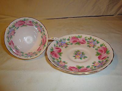 Tuscan China Tea Cup Pink Roses Pink Cup