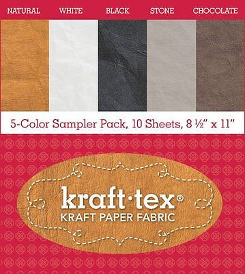 "kraft-tex® 5-Color Sampler Pack, 10 Sheets, 8 1/2"" x 11"": Kraft Paper Fabric"