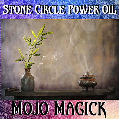 Mojo Magick Stone Power Circle Essential Oil Hoodoo Wicca -  Protect & Banish