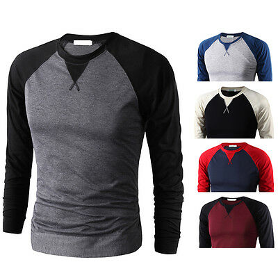 New sports men T-shirt long sleeve raglan sleeve man t shirt Slim tops tees 6t