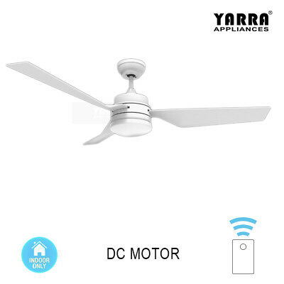 52'' modern DC Ceiling Fan With Light Kit Remote Control 1300mm