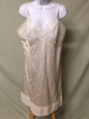 Woman's Vintage Ivory Colored Full Slip Size 42 JC Penney