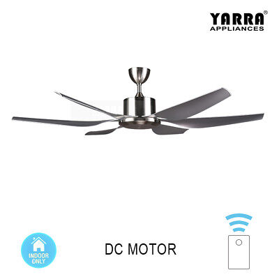 """66"""" Silver DC industrial ceiling fan remote control ABS blade"""