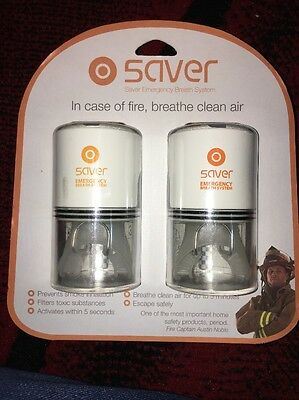 Safety iQ Saver Emergency Breathing System portable Fire Safety - 2 Person Set