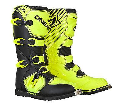 O'Neal ONeal Rider Dirt Offroad Motocross Motorcycle Boots Hi-Viz FREE SHIPPING!
