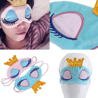Cute Princess Eyes Cover Crown Sleeping Blindfold Travel Shade Mask up-to-date