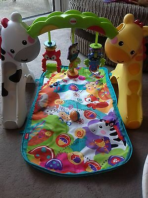 fisher price newborn to toddler play gym playmat musical 3 in 1 baby toy