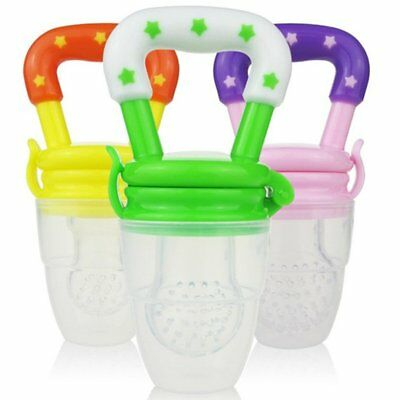Soft Silicone Safety Baby Nipple Food Fruits Feeder Pacifier Feeding Tool EU