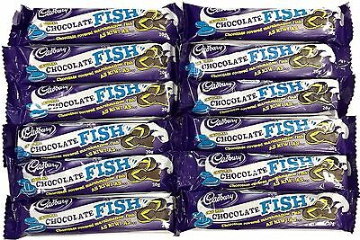 901826 12 x 20g PACKETS OF ORIGINAL CHOCOLATE COVERED MARSHMALLOW FISH! NZ