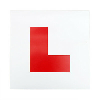 1x For New Drivers Learner Fully Magnetic L Plate Licence Sticker Car Exterior
