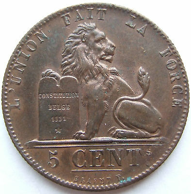 BELGIUM 5 CENTIMES 1848 in EXTREMELY FINE RARE