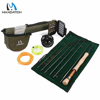 Maxcatch 5/6/7/8WT Traveller Fly Rod Combo 9'-7Sec, Fly Reel, Fly Line,Flies Kit