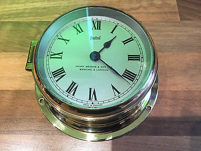 Vintage Sestrel Ships Clock By Henry Browne Maritime Marine Nautical Boat Yacht