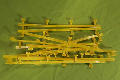 Mattel Tyco Slot Car Fences Yellow Qty 12