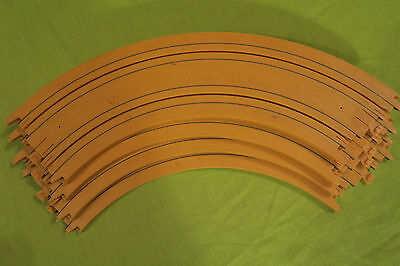 "Mattel Tyco Slot Car Vintage 9"" R 1/4 Circle Track Yellow Qty 4"