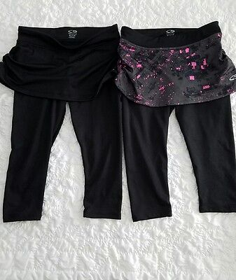 2 Tennis Skirt skort (leggins attached) Champion Size 7/8 Kids size.