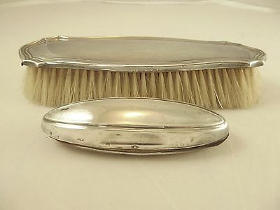 Two Antique Sterling Silver Items-Nail Buffer  & Clothes Brush Hallmarked B'ham