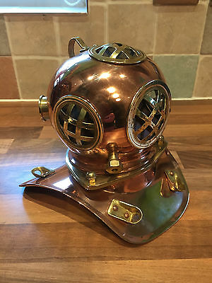 Vintage Copper & Brass Model Diving Divers Helmet Maritime Nautical Marine