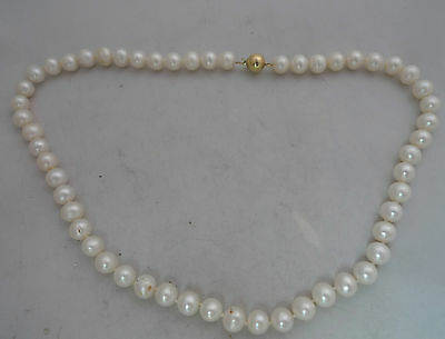 9ct Yellow Gold & Pearl Necklace 0.9cm x 45cm 36.3g A599617
