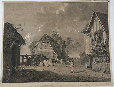 THE MAID OF THE MILL - BEAUTIFUL ORIGINAL 18th CENTURY ENGRAVING c.1768