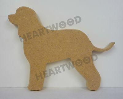 Irish Water Spaniel dog shape in MDF (150mm x 18mm thick)