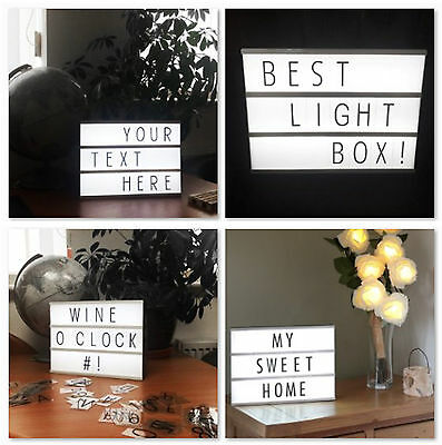 SALE - A4 Light Up Display Box LED Letter Word Wedding Party Cinema Message Sign