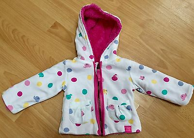 Joules Reversible Baby Girls Jacket/coat 3-6 Months