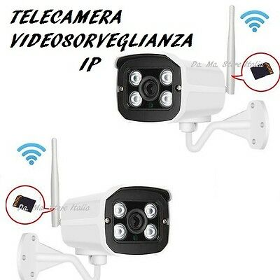 Telecamera Video Sorveglianza Wireless Wi Fi Infrarossi Sd Ip Camera 604 Esterno