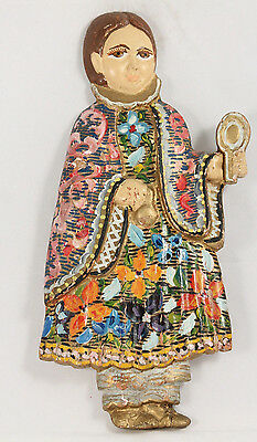 Antique/Vintage Wood Hanging Female Figurine South/Central America Collectible
