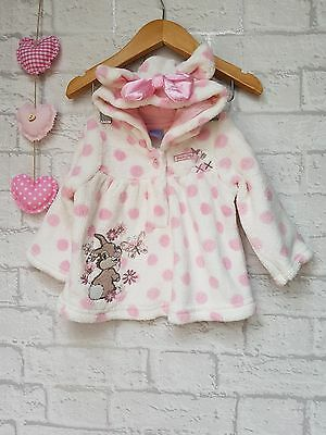 Baby Girls Supersoft Fleecy Embroidered Hoody Jumper Top 3-6 Months ☆ Disney ☆