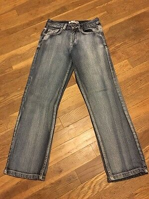 Boys Girls Blue Jeans Route 66 Slim Straight Size 10