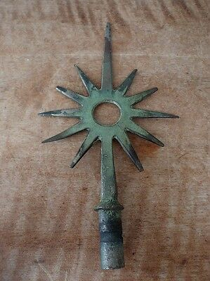 Antique Lightning Rod Weathervane Star 11 Point Finial Weather Vane