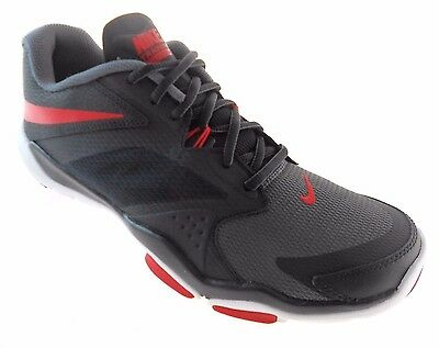 4285dad04871 NIKE FLEX SUPREME Tr 3 Black red grey Training Shoes Men s Sz 9 ...