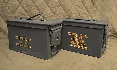 2 PACK .50 Cal M2A1 AMMO CAN SCRATCH AND DENT * FREE SHIPPING *