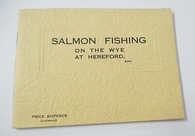 SALMON FISHING ON THE WYE AT HEREFORD, 1931 Illustrated