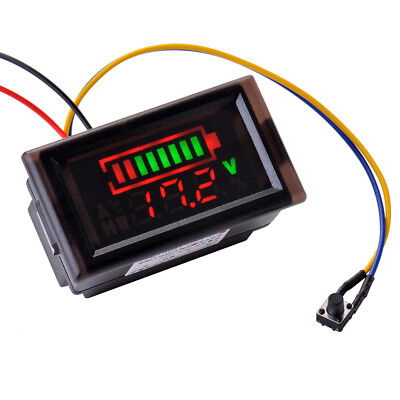 12V 24V Acid Lead Lithium Battery Indicator Capacity LED Tester Voltmeter MA927