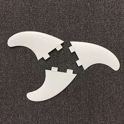 3Pcs/set New White Carbon G5 Surfboard Fins FCS Surfing Thrusters Water Sport